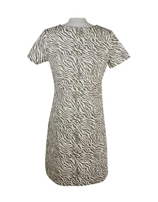 Alice Collins Kylie Dress Mushroom Zebra Back 024S070