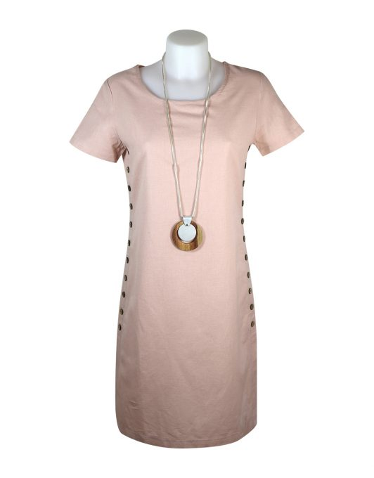 Alice Collins Kylie Dress Blush Front 024S070