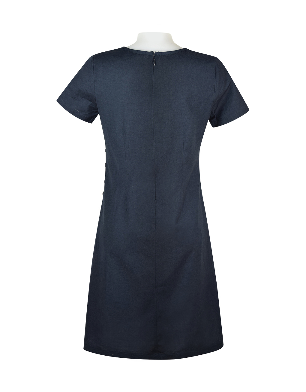 Alice Collins Kylie Dress Navy Back 024S070
