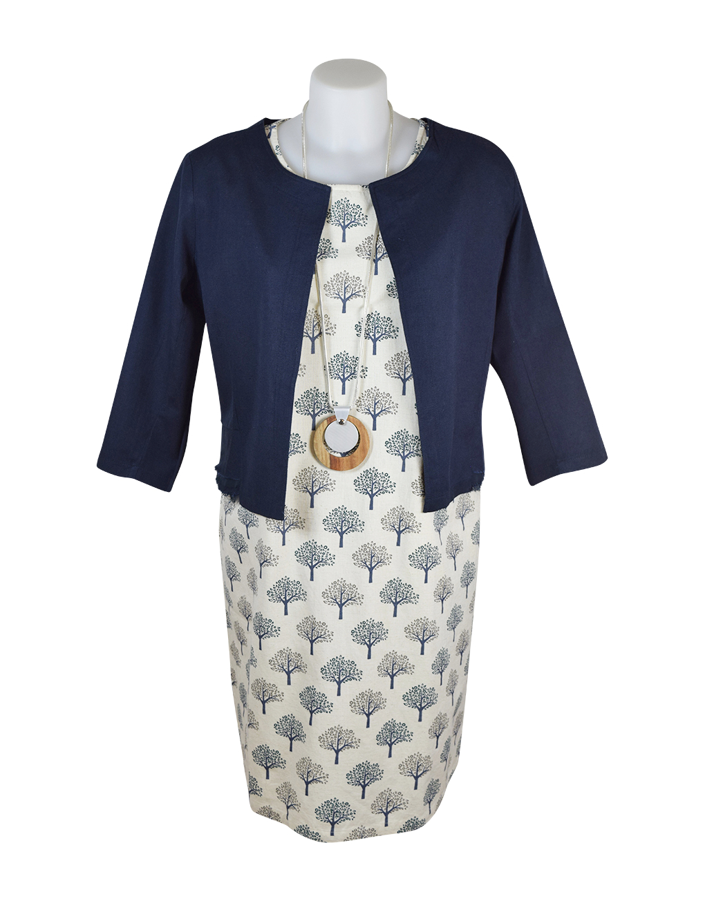 Alice Collins Deidre Dress 024S091 & Grace Jacket Navy 024S076