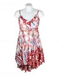 Sensations Pour Elle 883 Red & White Floral 20D Front