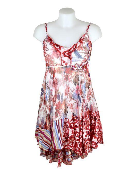 Sensations Pour Elle 883 Red & White Floral 20D Front