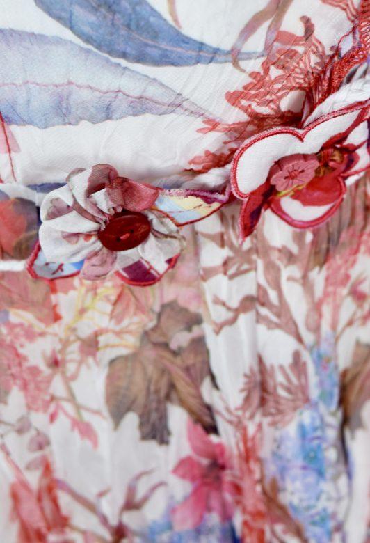 Sensations Pour Elle 883 Red & White Floral 20D Swatch