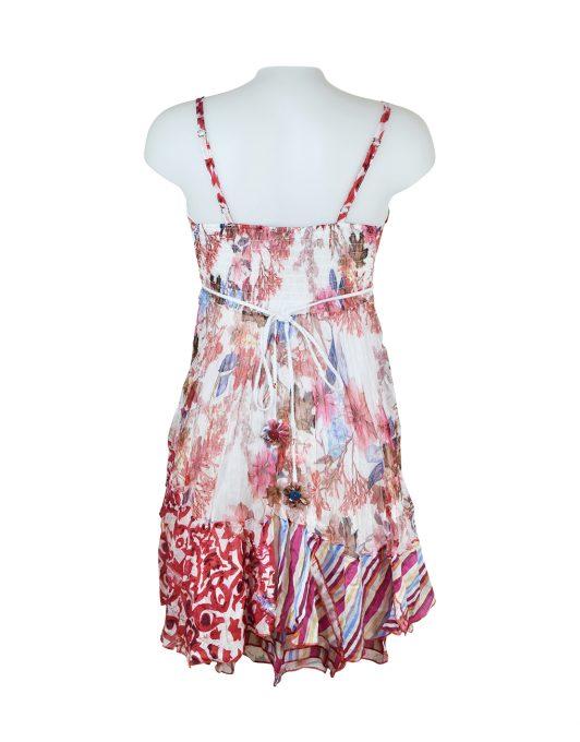 Sensations Pour Elle 883 Red & White Floral 20D Back