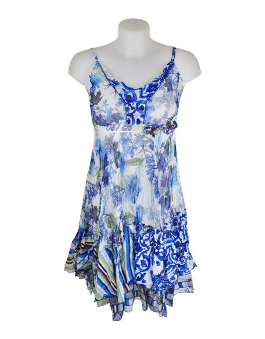 Sensations Pour Elle 883 Blue & White Floral 20C Front