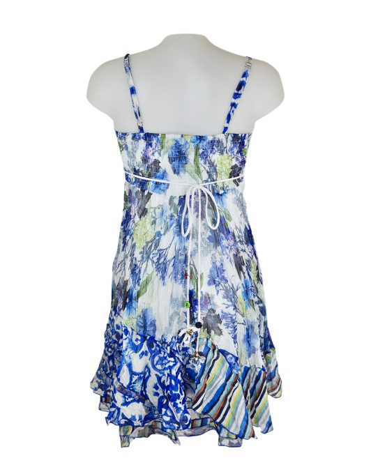 Sensations Pour Elle 883 Blue & White Floral 20C Back
