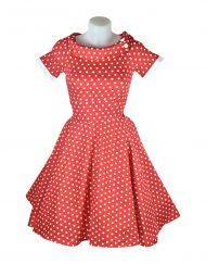 Dolly & Dotty Darlene Red & White Polka Dot Dress V333