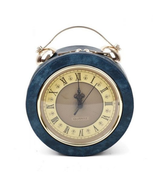 Clock Navy Bag