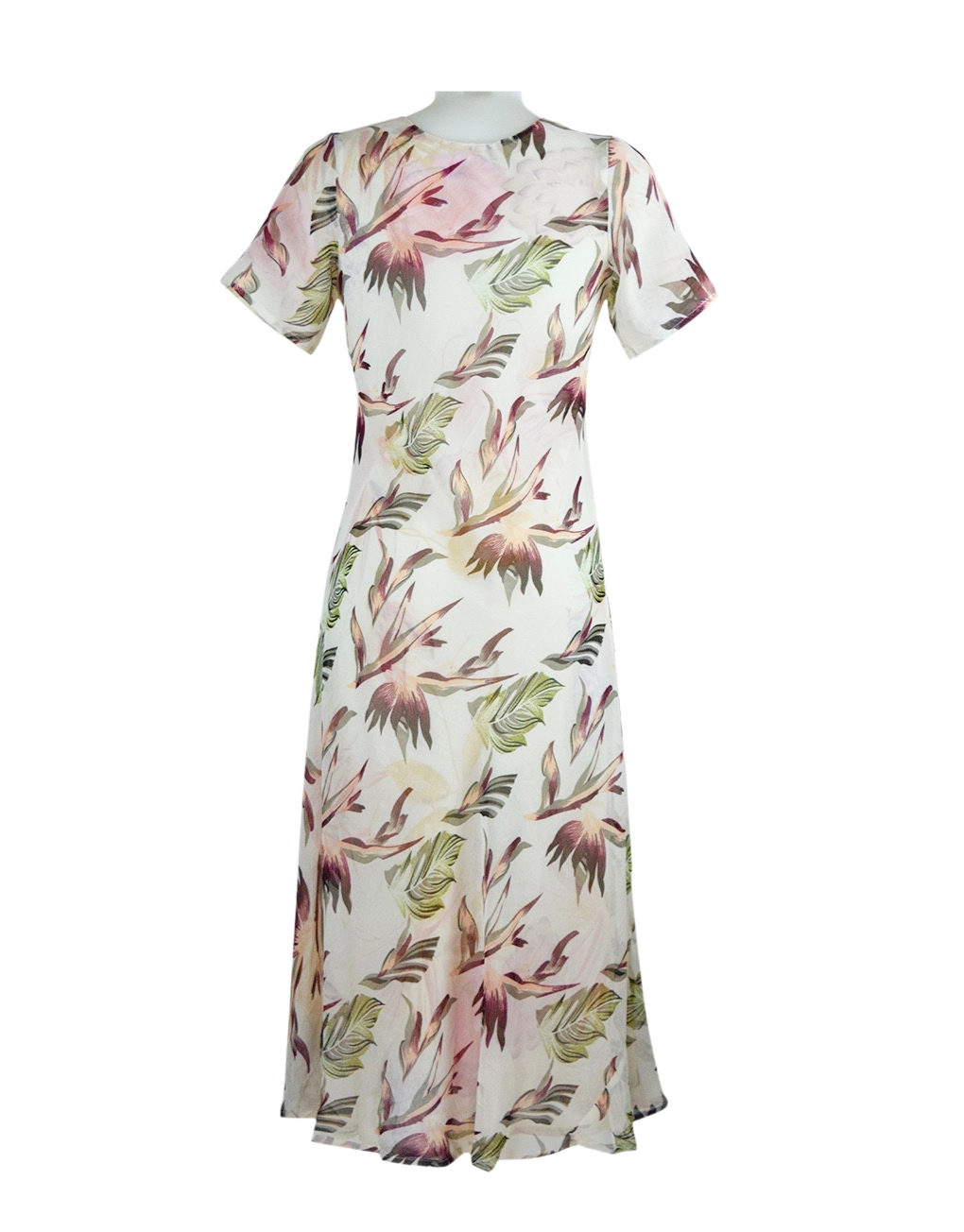 Paramour Reversible 2 in 1 Short Sleeve Dress Peach/Ivory