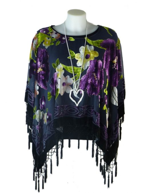 Jayley Purple Poncho