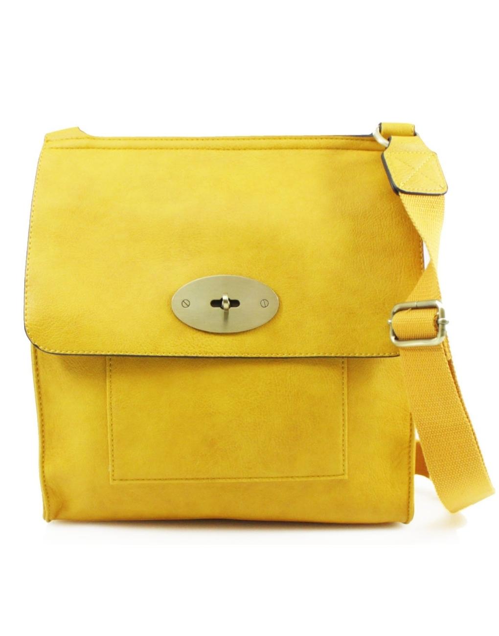 Large Yellow Satchel Bag
